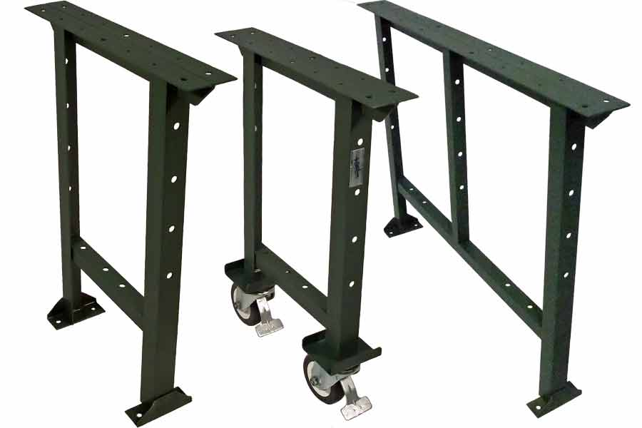 wood steel tools work adjustable height legs duty heavy garage workbench storage solid tabletop bench